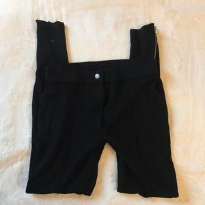 Black Leggings with side zippers